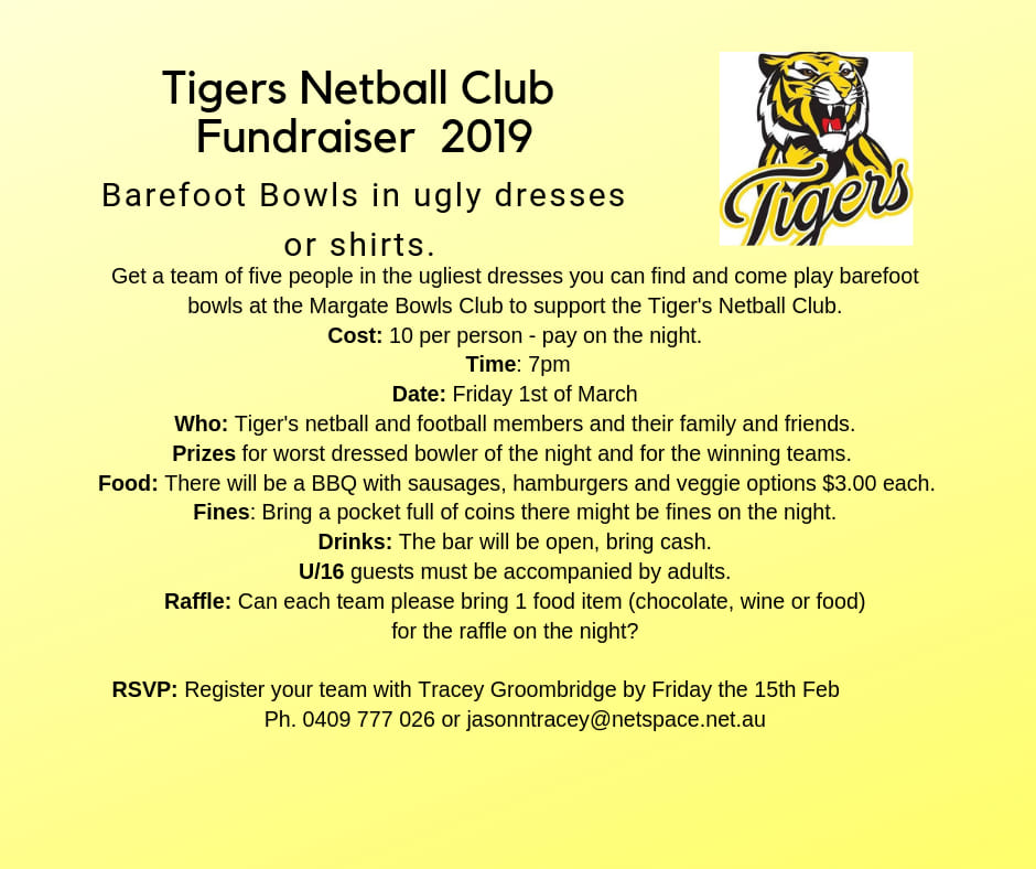 Kingborough Tigers Netball Fundraiser